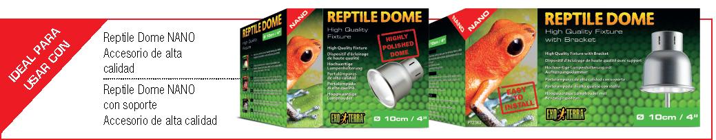 Ideal para usar con Reptile Dome Nano de Exo Terra con o sin soporte