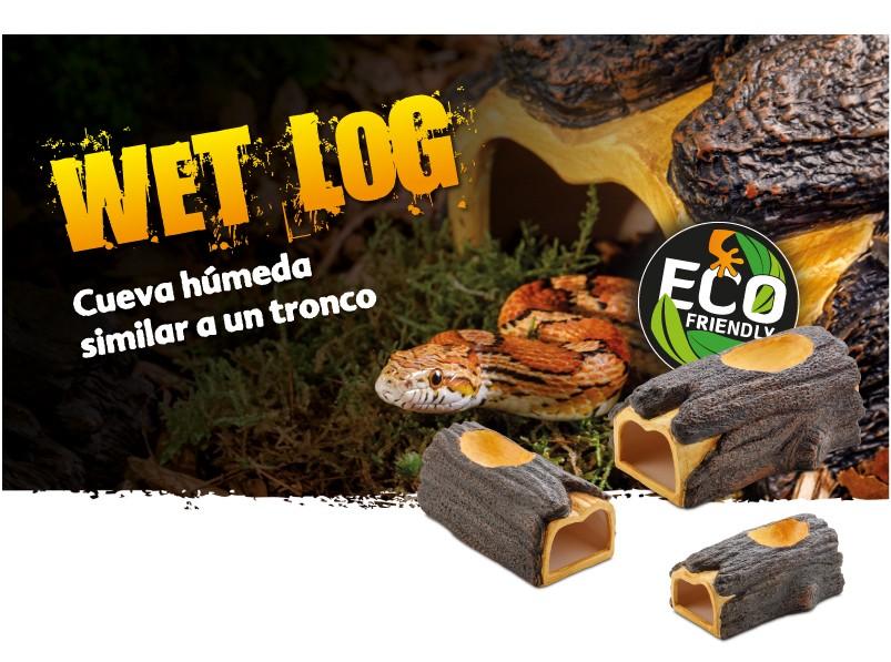 Cueva húmeda Wet Log Exo Terra para reptiles en tres tamaños