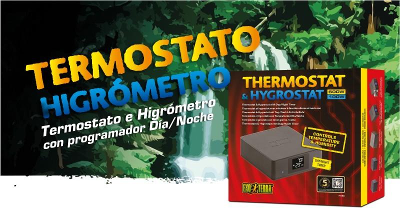 Termostato e higrómetro Exo Terra para temperatura y humedad