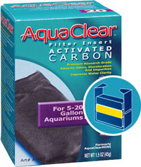 reposición carbón filtro mochila AquaClear