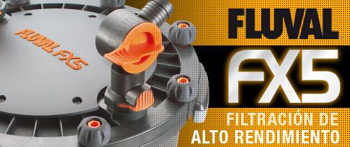 Filtro para Acuario Fluval FX5 para limpieza del acuario.